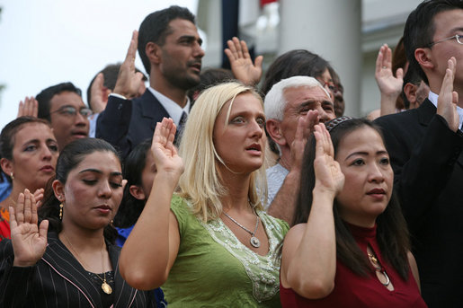 President Bush:  Remarks at Monticello's 46th Annual Independence Day Celebration and Naturalization Ceremony